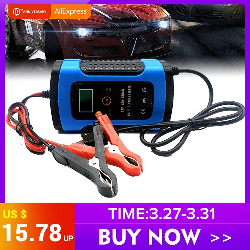 12 V 6A LCD Смарт Быстрое Автомобильное зарядное устройство для автомобильного мотоцикла свинцово-кислотные AGM гелевые батареи интеллектуальн...