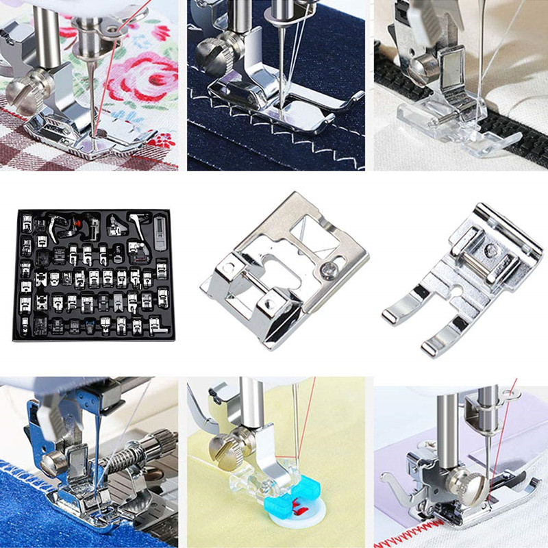 Toyota Elna Aiskaer Professional 48pcs Sewing Machine Presser Feet Set for Brother Kenmore, Babylock Simplicity Singer Janome New Home