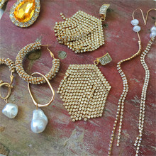 Bestessy 2019 vintage punk fashion geometric antique gold-plated big earrings for women girl gifts feminine charm jewelry