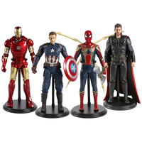 Avengers Infinity War Iron Spider Spiderman Thor Captian America Iron Man 1/6 scale painted figure PVC figure Toy Anime