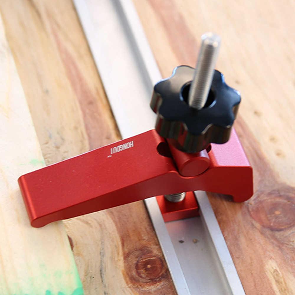 Быстродействующие зажим из алюминиевого сплава с Т-образным слотом для деревообработки, прочный деревообрабатывающий верстак