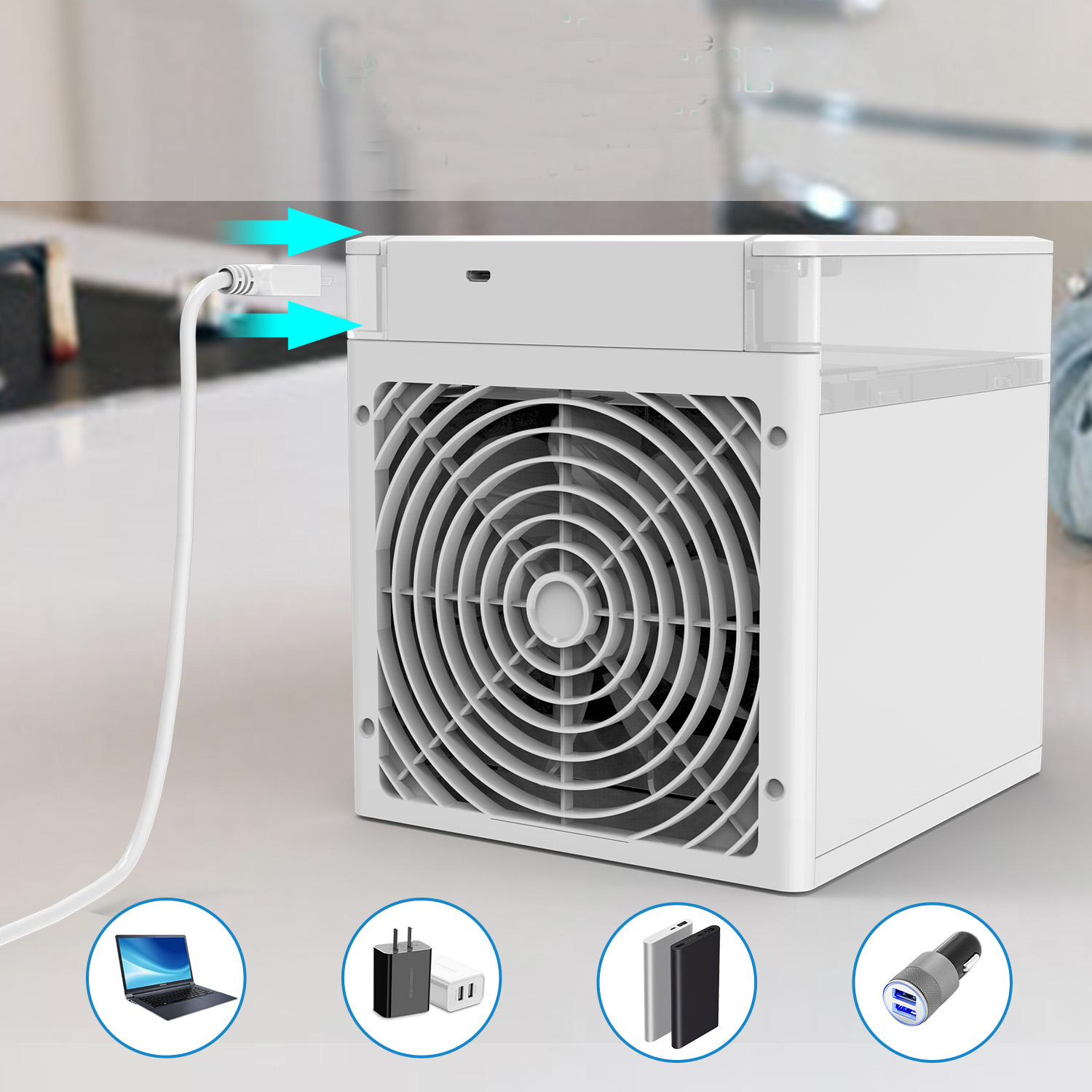 10W Uv-c Portable USB Cooler Powerful Cooling Ac NexFan RPG Light Refrigeration Humidification Purify Room Aaromatherapy
