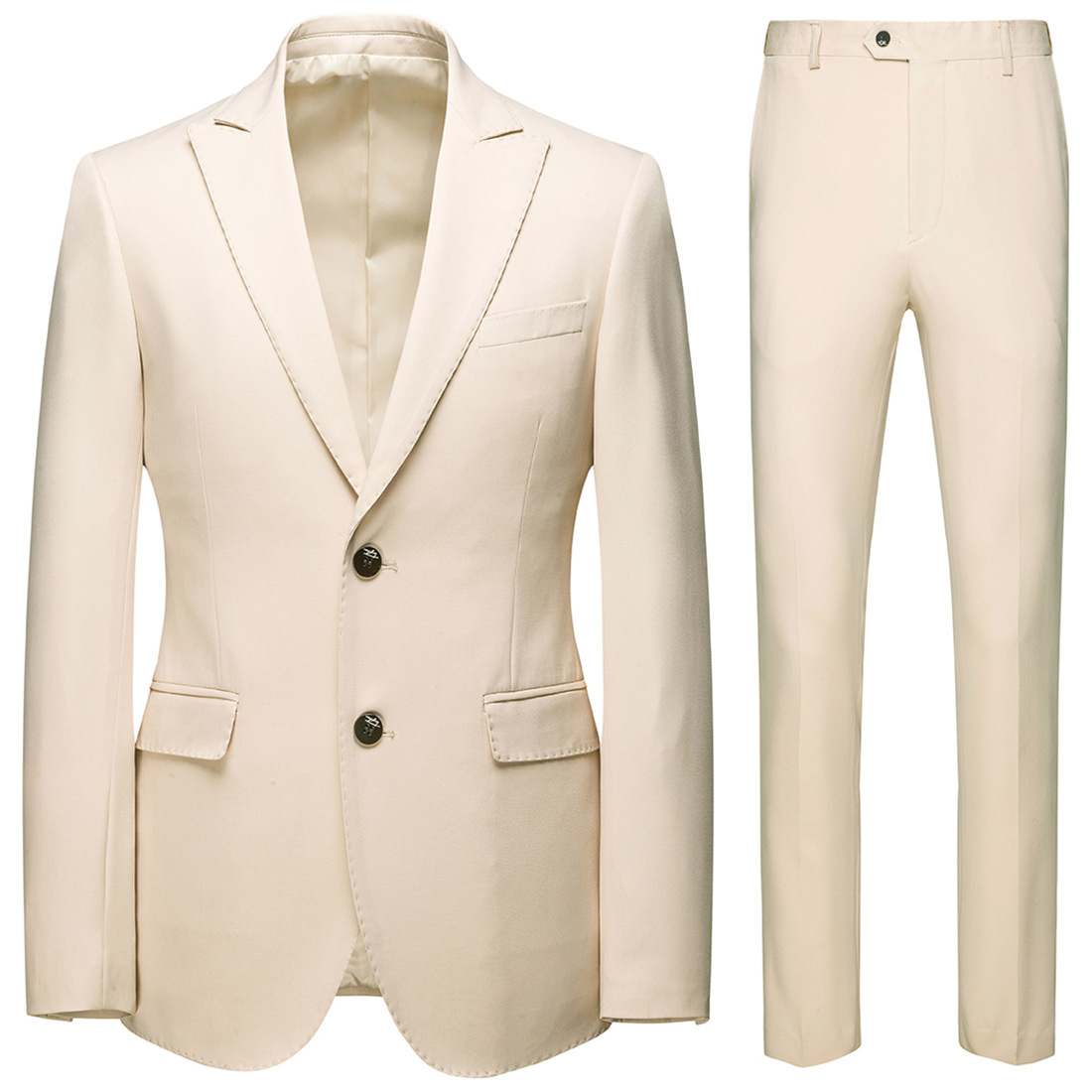 Boutique 2019 New Style Business Leisure Suit 2 Pieces Groom Best Man Wedding Two-Button Suit Set Xf112