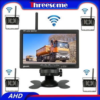 diysecur wireless 4 3 inch car reversing camera kit back up car monitor lcd display hd car rear view camera parking system 7 inch AHD Wireless Car Monitor LCD TFT Car Rear View Camera HD monitor for Truck Camera for Bus RV Van reverse camera Wired