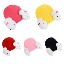 2020 New Winter Newborn Baby Toddler Kids Boy Girl Hats Cute Knitted Rabbit Crochet Ear Beanie Warm Hats Caps 0-5T(China)