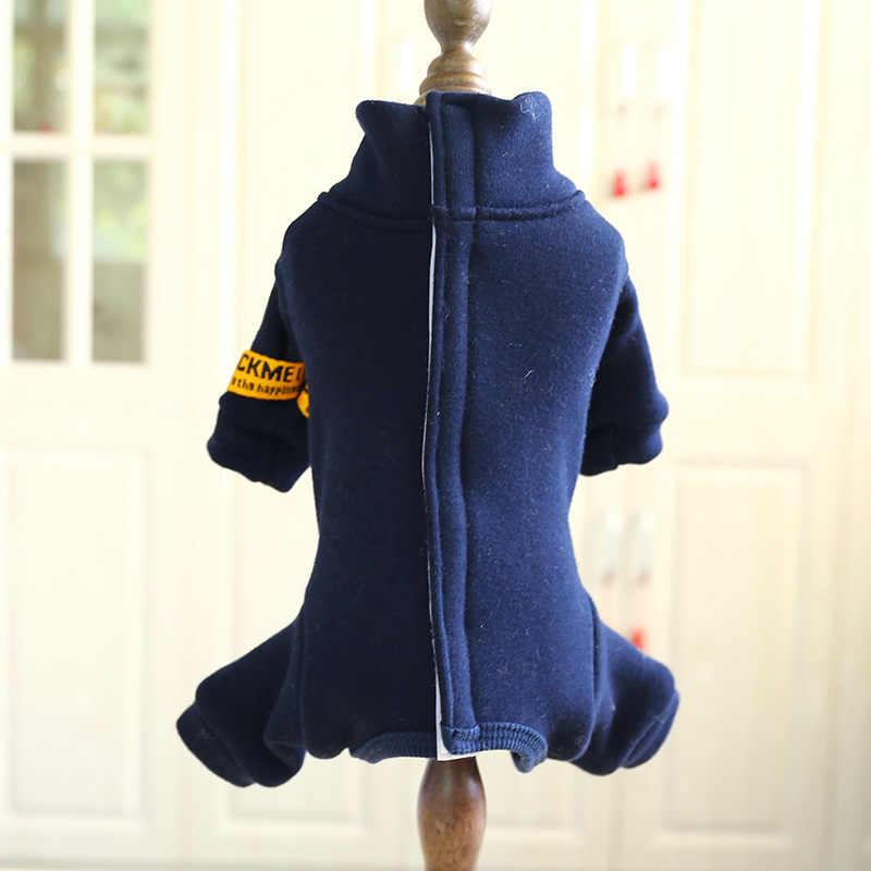 Costumi invernali per Cani Autunno Caldo Comfort Morbido Rosso Blu Grigio Vestiti Cucciolo per Piccolo Animale di Sesso Maschile Femminile Completamente Coperto del ventre