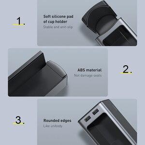 Image 5 - Baseus organizador do assento de carro metal caixa armazenamento automático bolso com portas usb duplas para o copo do carro telefone titular assento gap organizador gadgets