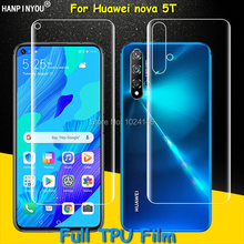 Front / Back Full Coverage Clear Soft TPU Film Screen Protector For Huawei nova