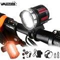 Водонепроницаемый яркий велосипедный фонарь  6000 люмен  3x XM-L2  светодиодный передний фонарь для велосипеда  налобный фонарь + аккумулятор + по...