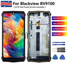 """KOSPPLHZ 6,3 """"оригинальная деталь для Blackview BV9100 ЖК дисплей Дисплей + кодирующий преобразователь сенсорного экрана в сборе + рамка Замена для BV 9100 + инструмент"""