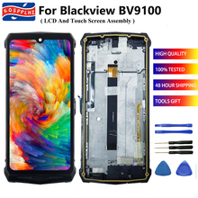 """KOSPPLHZ 6.3"""" Original Part For Blackview BV9100 LCD Display + Touch Screen Digitizer Assembly + Frame Replacement BV 9100 +Tool"""