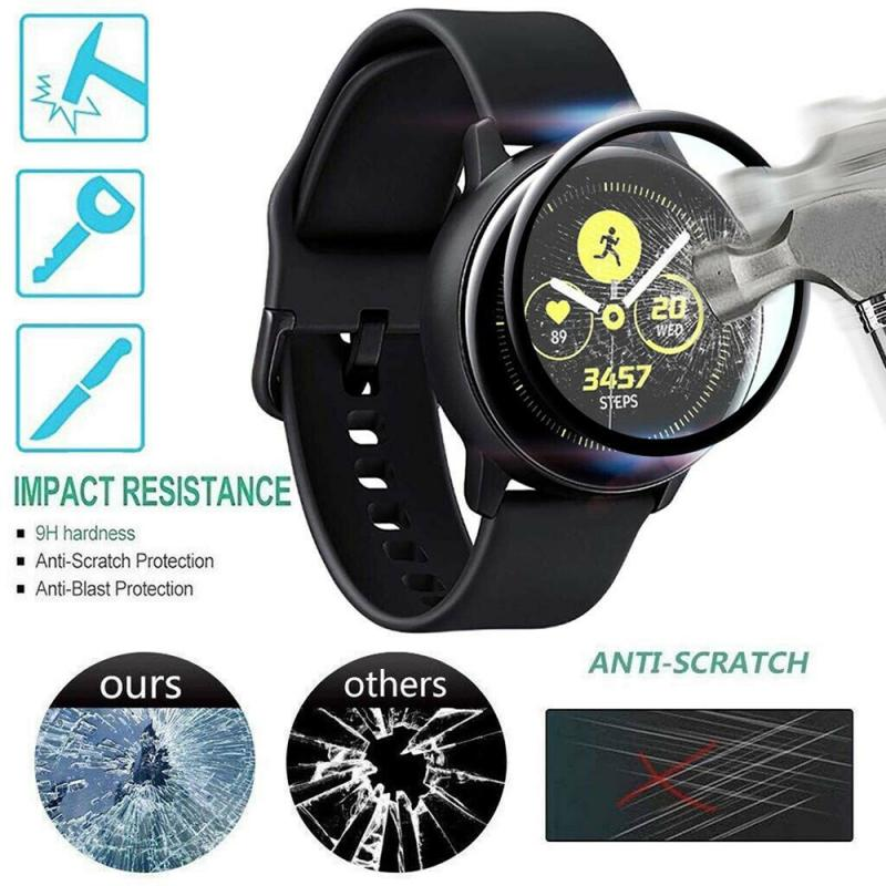 Watch Screen Cover Case For Samsung Galaxy Watch Active Tempered Film Full Screen Plating PET Hot Bending Soft Film 3D Flexible