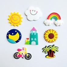 1PCS Fridge Magnets Rainbow Clouds Sun Moon Soft PVC Fit Refrigerator Gift Office Blackboard 2019 New