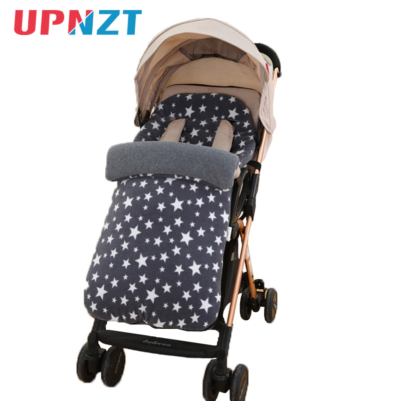 Baby Winter Stroller Sleeping Bag Newborn Fleece Star Sleepsack Footmuff For Baby Stroller Sleeping Bag Children Toddler Kid