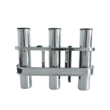 304 stainless steel fishing rod holder tube rocket launcher boat outfitting rod holders boat marine superb 3 Tubes Link stainless steel 316 fishing boat rod holder fishing rod rack socket for marine fishing box kayak boat yacht