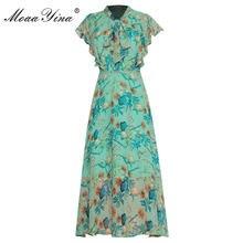 Женское шифоновое платье moaayina подиумное с оборками коротким