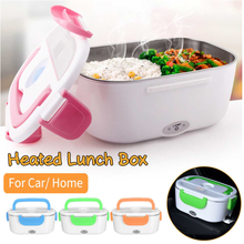 Electric Heating Lunch Box Car + Home 2 In 1 12V-24V 110V Portable Stainless Steel Liner Bento Lunchbox Food Container Bento Box