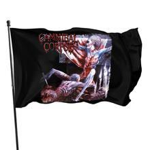 Canibal cadáver túmulo da morte mutilado banda de metal t tamanhos s a 6xl crianças swag cor venda bandeira