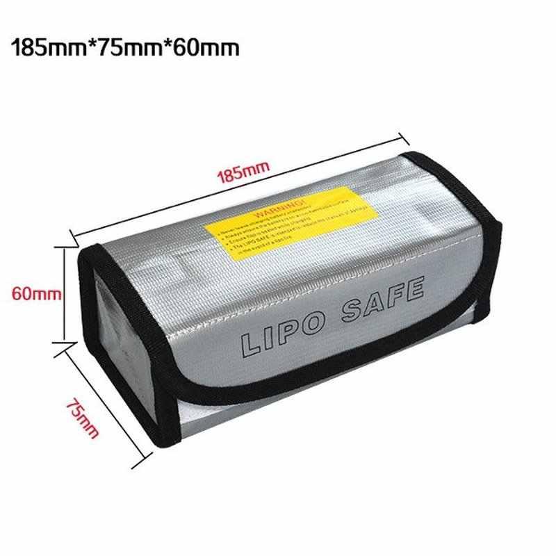 Lipo batería portátil ignífugo a prueba de explosiones bolsa de seguridad resistente al fuego 185x75x60mm para RC Lipo de la batería