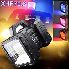 8000k Super lumineux XHP70.2 LED étanche Rechargeable lampe tête projecteur poche lampe de poche travail lumière projecteur