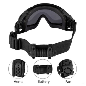 Image 5 - FMA Tactical SI Ballistic Anti fog Goggles with Fan Anti dust Outdoor Airsoft Paintball Safety Glasses Eyewear with 2 Lens