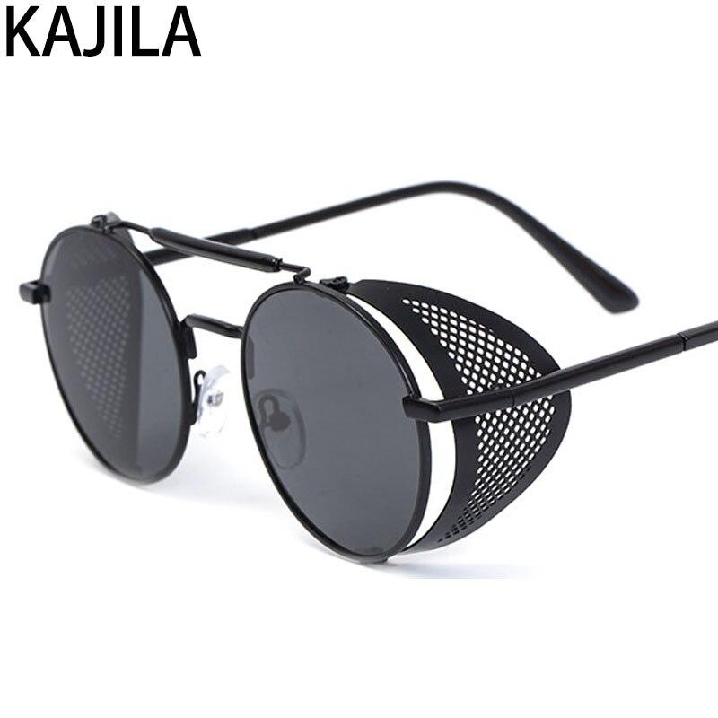 Luxury Designer Retro Steampunk Sunglasses for Men Metal Clout Goggles Vintage Sun Glasses Personality 66247 in Women 39 s Sunglasses from Apparel Accessories