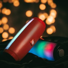 Kuat Speaker Bluetooth Portable Nirkabel Bluetooth dengan Lampu LED MP3 Musik Speaker untuk Komputer PC Smartphone(China)