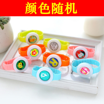 Colorful Environmental Protection Silicone Wristband Summer Mosquito Repellent Bracelet Anti-mosquito Band Effective Children 1p