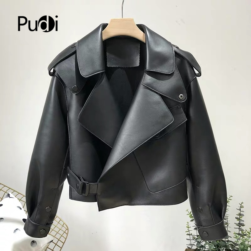 Aorice Real Sheep Skin Coat Jacket Overcoat Women's Winter Warm Coat Genuine Leather Inside Winter Coat CT936