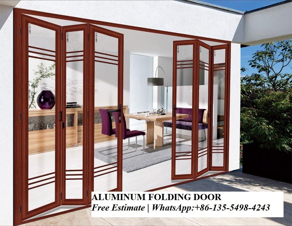 Exterior Heavy Aluminum Bi Fold Storefront Bifold Doors Design Australian Standard Glass Folding Door