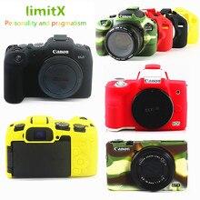 سيليكون DSLR كاميرا حافظة جسم جلد واقي حقيبة جراب لكانون EOS R6 R5 R RP M50 80D G7X III كاميرات رقمية