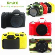 Silicone DSLR Camera Body Case Protective skin Cover bag for Canon EOS R6 R5 R RP M50 80D G7X III digital cameras