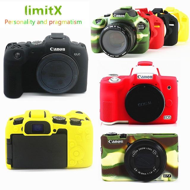 Silikonowe lustrzanka cyfrowa obudowa pokrowiec torba dla Canon EOS R6 R5 R RP M50 80D G7X III kamery cyfrowe
