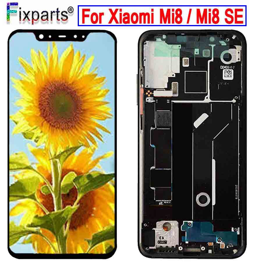 Amoled Screen For <font><b>Xiaomi</b></font> <font><b>Mi</b></font> <font><b>8</b></font> LCD <font><b>Display</b></font> Digitizer Assembly Touch Screen Replacement 6.21