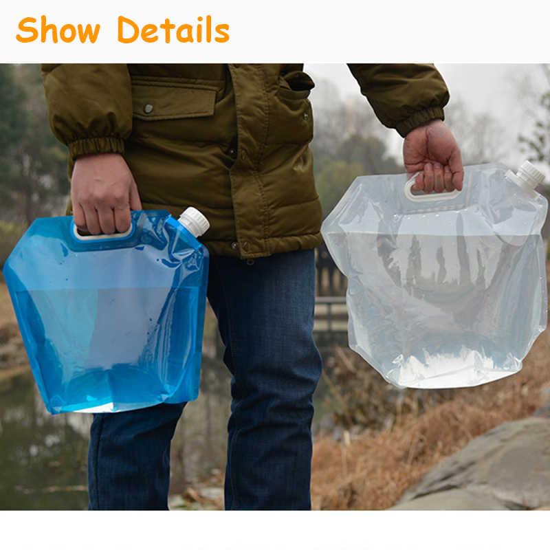 5Lน้ำพับเก็บพับยกกระเป๋าแบบพกพาCamping Hiking Survivalกลางแจ้งอุปกรณ์เสริมTravelชุดอุปกรณ์