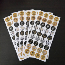 216pcs Gold Black 18 30 40 50 60th Birthday Sticker Adults  Sticker Labels Anniversary party Decoration Gift Sticker 6 page happy 30 40 50 birthday paper sticker 30 40 50 year old event party gift and candy food stickers anniversary party decor