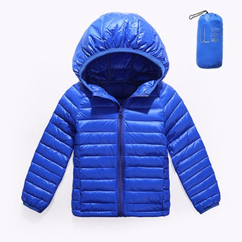 Children Duck Down Jackets Coats Girls Light Down Feather Jacket Kids Down Hooded Outerwear Coats Autumn Winter