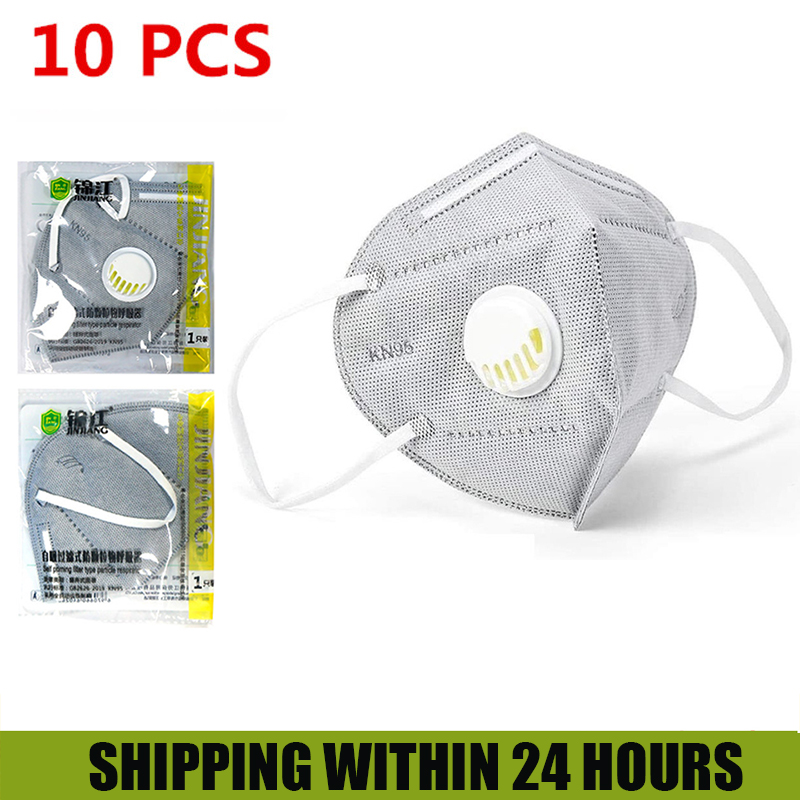 OLOEY 10PCS  Face Mask Respirator For Adult 5 Layer Dust Mouth Masks For Men Women