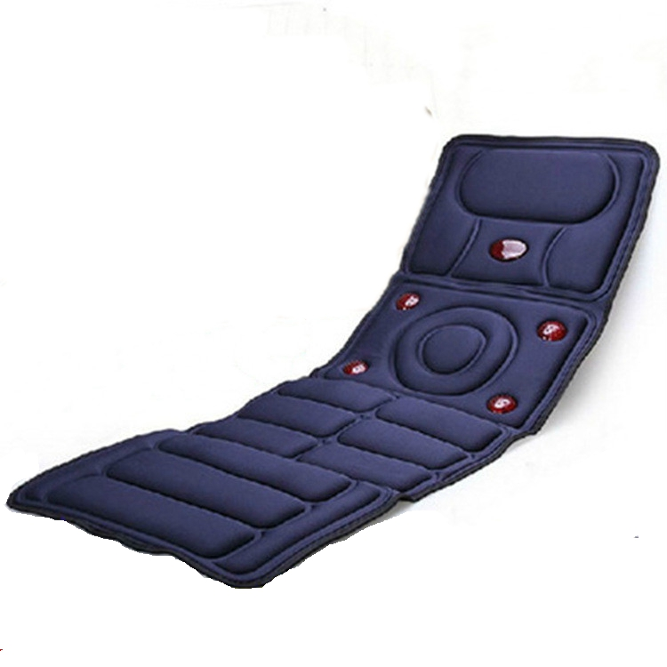 Multifunction Far Infrared vibration Massager Cushion and heating function with full back massage mattress for car seat or home