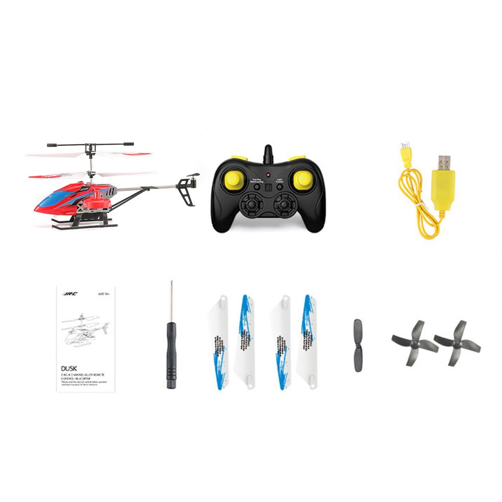 JJR/C JX02 RC Helicopter Mini Quadcopter 2.4G 4CH Metal Alloy Altitude Hold Hovering Aircraft For Kids Toys Children Gift