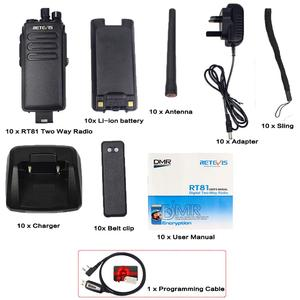 Image 5 - Walkie Talkie DMR Digital Radio 10PCS Retevis RT81 IP67 Waterproof UHF Encryption VOX Walk Talk+Cable for Farm Factory Warehouse