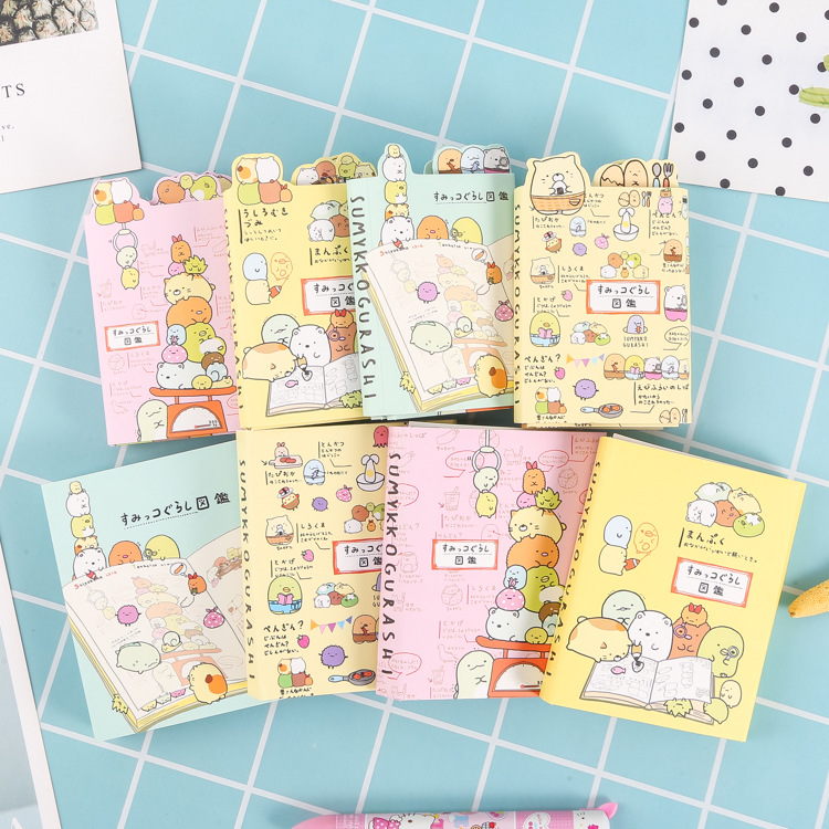 43% Japanese Corner Creature Cartoon Cute Message Note Book Foldable Tearable Diary Book Randomly Prepare 5.7*8.3cm 45g WJ01