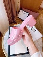 New Brand Slippers Weave Leather Women Sandal Open Toe High heels Casual Slides Summer Outdoor Beach Female Flip Flops 35-41