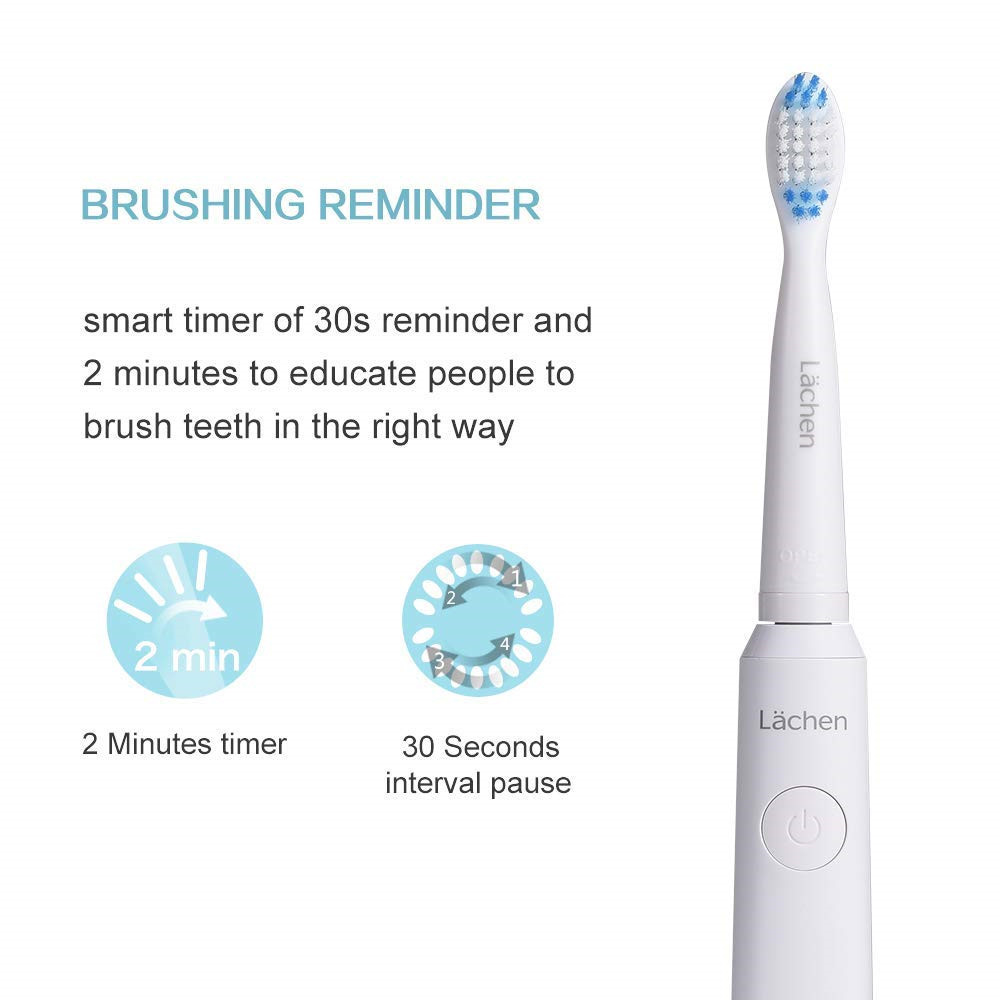 lachen Electric Toothbrush Rechargeable buy one get one free Sonic Toothbrush 5 Mode Travel Toothbrush with 8 Brush Head Gift