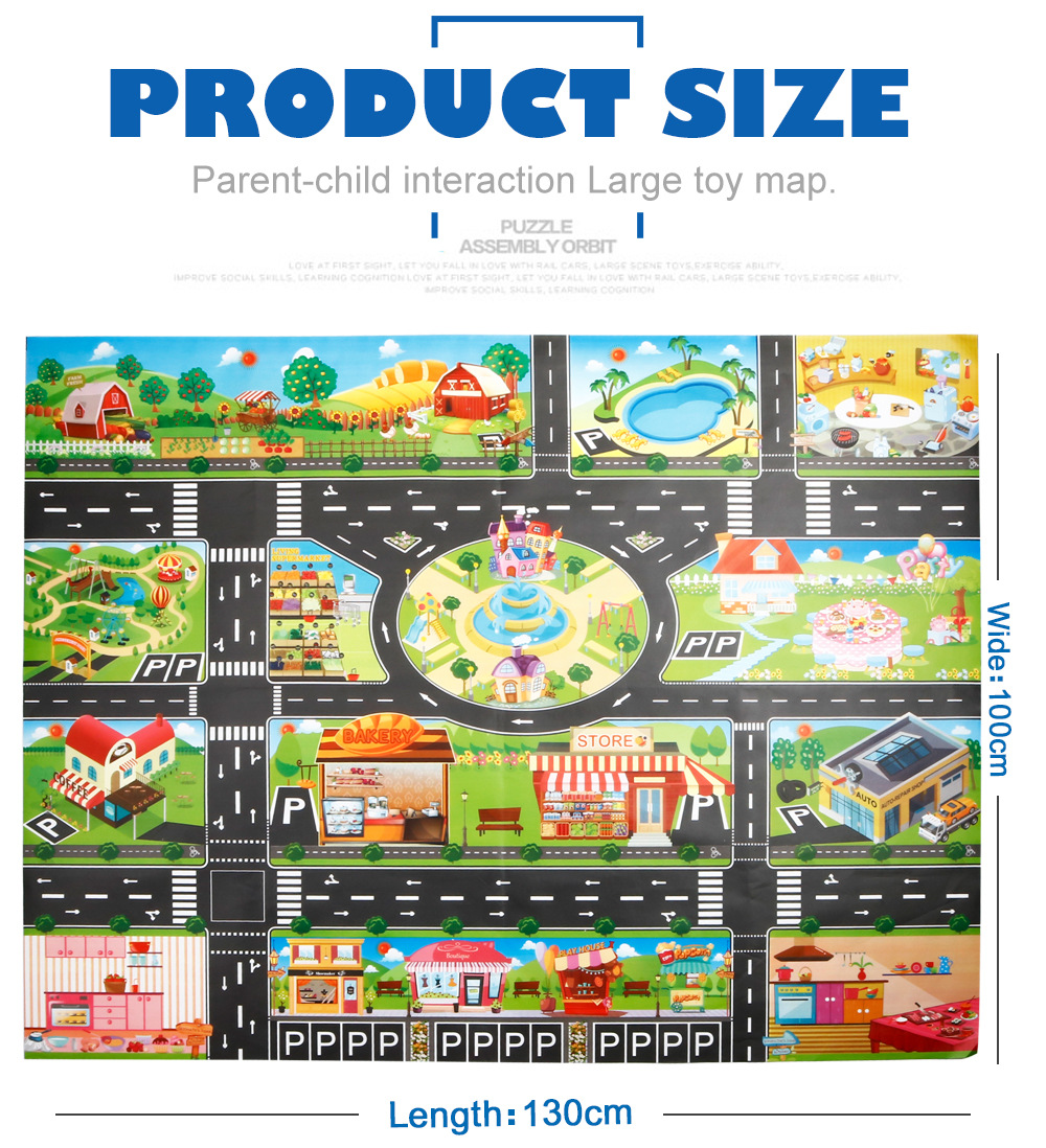 H1f71917fc8c24b479cca2414cd94bbd6T Large City Traffic Car Park Mat Play Kids Rug Developing Baby Crawling Mat Play Game Mat Toys Children Mat Playmat Puzzles GYH