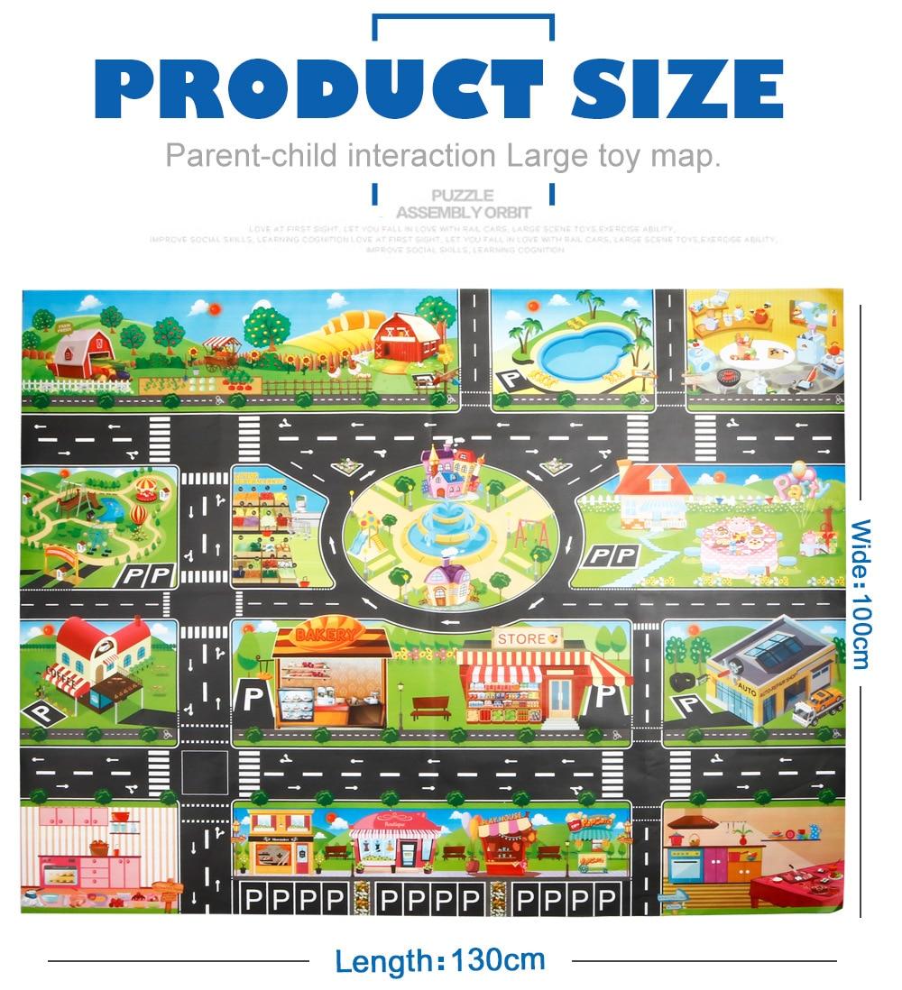 H1f71917fc8c24b479cca2414cd94bbd6T Large City Traffic Car Park Mat Play Kids Rug Developing Baby Crawling Mat Play Game Mat Toys Children Mat Playmat Puzzles GYH