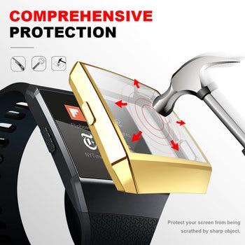 Funda de reloj anticaída para Fitbit Ionic Watch de lujo a la moda antihuellas, funda protectora antiarañazos para Fitbit Ionic
