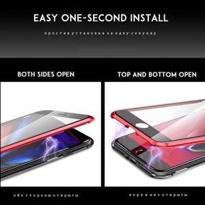 Image 4 - 마그네틱 흡착 케이스 360 xiaomi redmi note 7 강화 유리 전체 커버 redmi k20 pro 케이스 투명 충격 방지