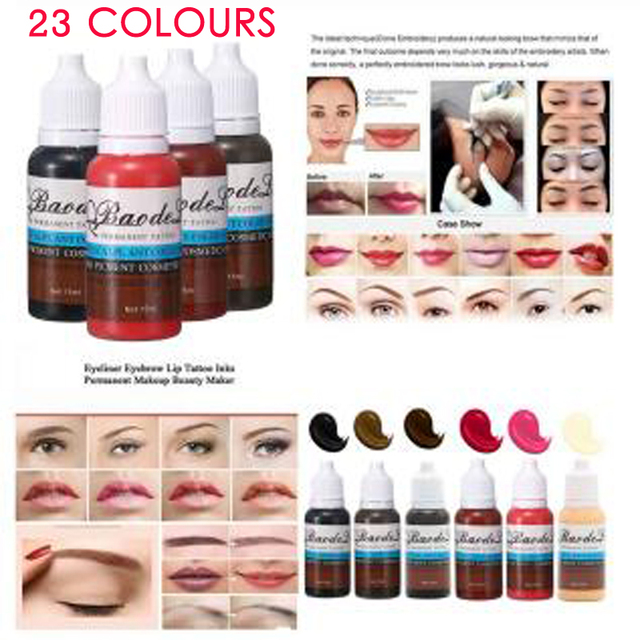 23 Colors Tattoo Pigment ink Eyebrow Lip Eyeline Pigment Coloring Cream Ink For Semi Permanent Body Paint Makeup Tool 1