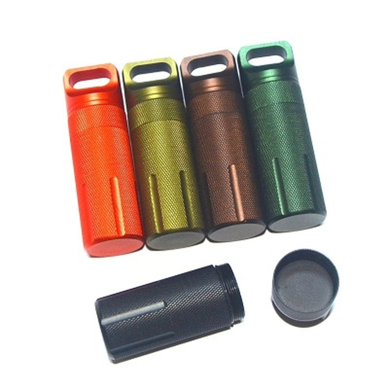 waterproof outdoor metal survival pill match edc case box container bottle new.